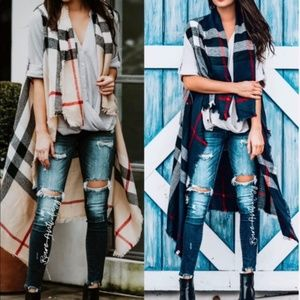Jackets & Blazers - Plaid vest